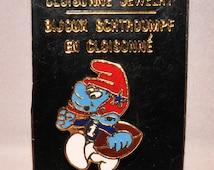 Vintage Football Smurf Collectors Pin
