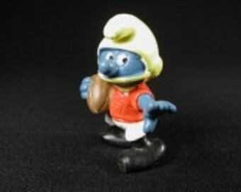 Vintage American Football Smurf Figurine