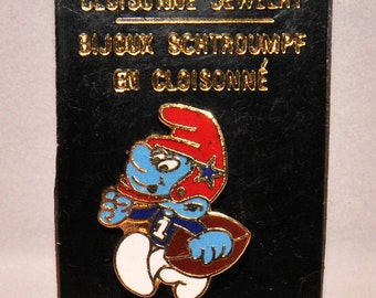 Vintage Football Smurf Collectors Pin