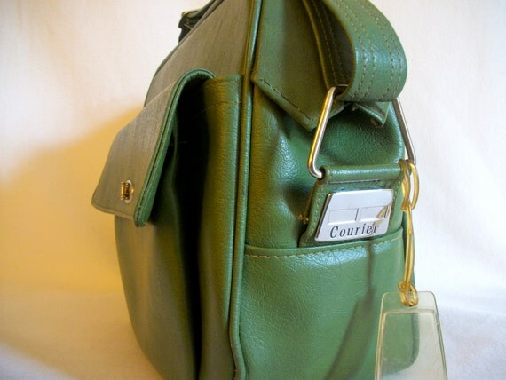 Olive green Courier luggage by Samsonite for Sears