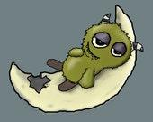 I Like Cheese'- Ni-Nite Monster Series -Digital Children's Art