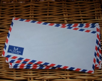 20 Vintage Style Thai Airmail Envelopes (Long Size : 10.80 cm.x 23.50 cm.)