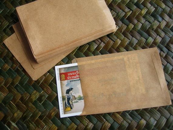 Kraft Mini Paper Bags,Gift Bags--Set of 50  Size 6 x 9.5 cm.