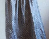 Grey float polka dot flare skirt