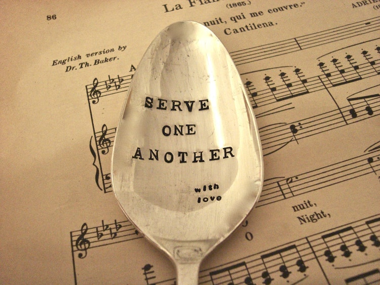 """""""it is in serving one another Our savior said to love one another 9 - a living prayer by alison krauss while the verses of this song are more self-centered, as it were - asking god for help and comfort in a dark place - the refrain about being a living prayer is really about serving."""