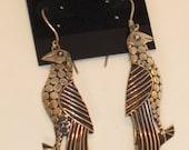 Vintage Silver Bird Earrings