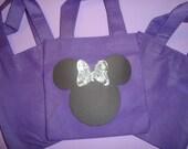1 Minnie Mouse Personalized Treat Mini Bags or Favor Mini Totes
