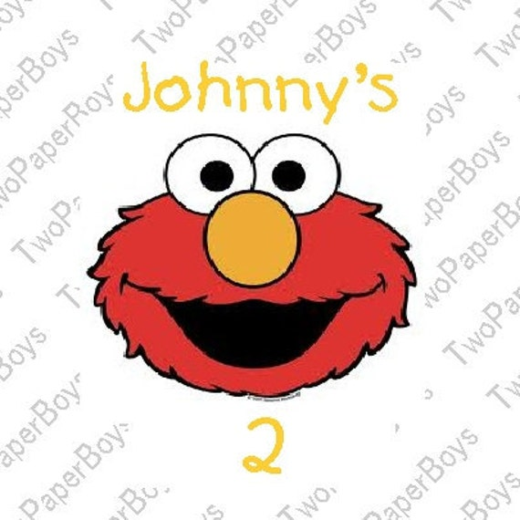 Elmo Color Personalize Stickers-Favors Labels, Party Favors Address Labels, Gift Tag Birthday Stickers