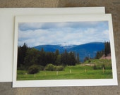Photo Note Card Scenic Photograph of Montana Blank Inside 4 X 6 Free Shipping Made in Montana USA