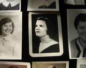 Lot of 9 Vintage 1950s Black and White Girls Yearbook  Photos