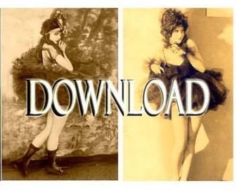 Ballerinas... Instant Digital Download... 1920's Vintage Fashion Photo Collection