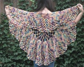Multi-colored Chrysanthemum Crochet Shawl