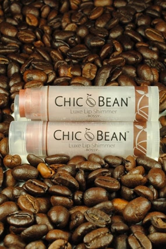 CHIC Bean Luxe Lip Shimmer ( BOSSY ) with Certified Organic Cocoa Butter / Solid Lip Gloss