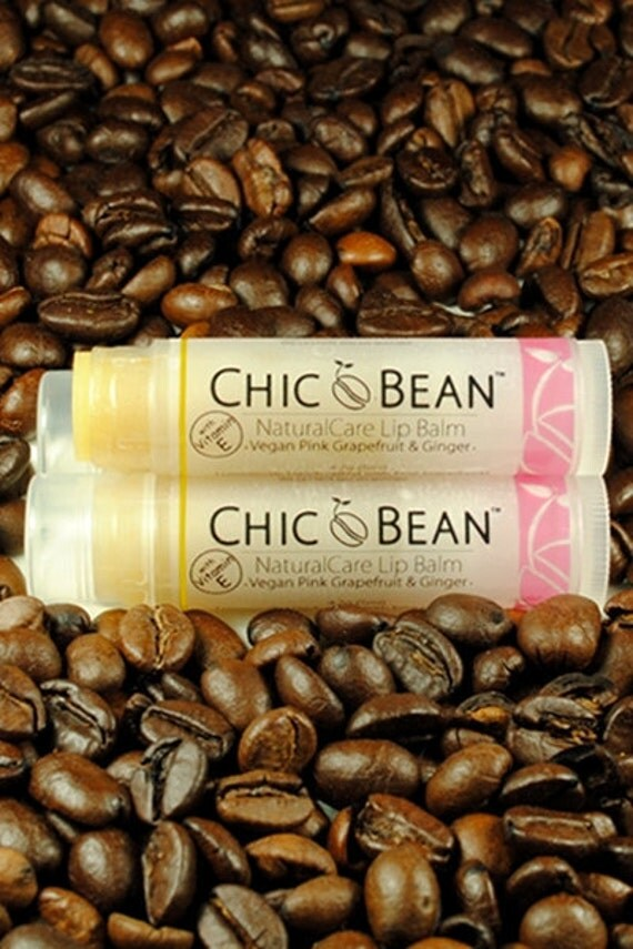 VEGAN Pink Grapefruit & Ginger NaturalCare Lip Balm by CHIC BEAN with Vitamin E