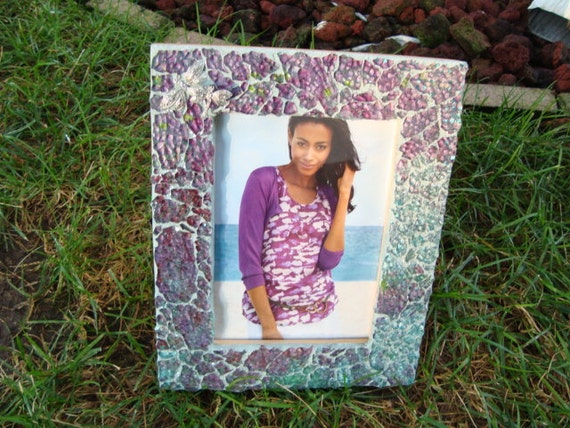 mosaic glass picture frame