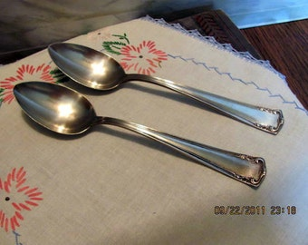 Silverplate Serving Spoons by Alvin Silverplate in the Lafayette from Year 1915