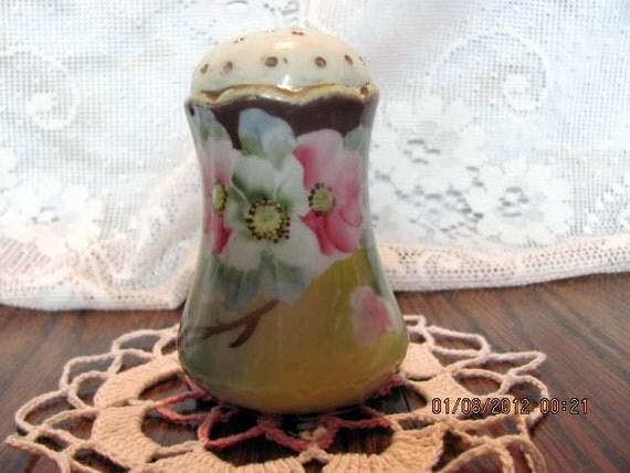 Victorian Era Sugar Shaker or Muffineer Hand Painted