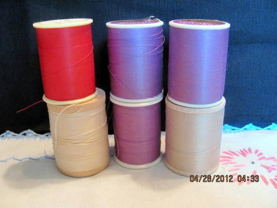 Quilting Thread 6 Large Spools of Heavy Weight Destash