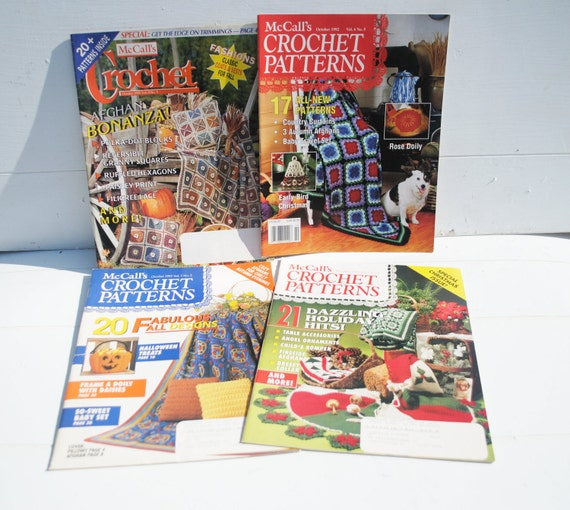 Destash McCall's Crochet Magazines an Assortment of Dates