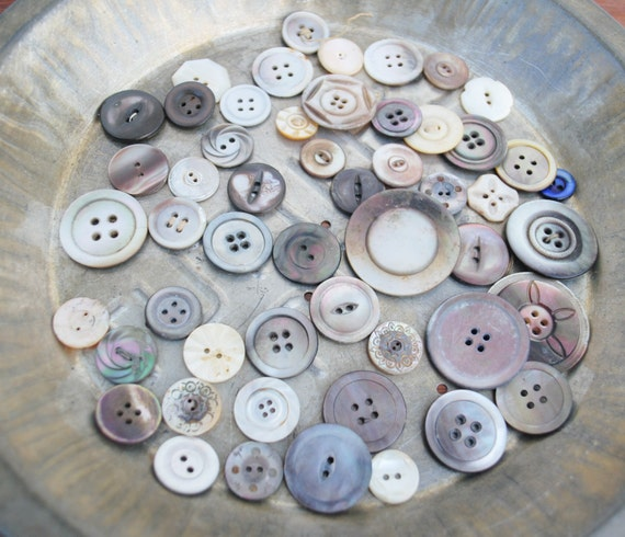 Reserved for H Mother of Pearl Buttons in Assorted Colors and SIzes