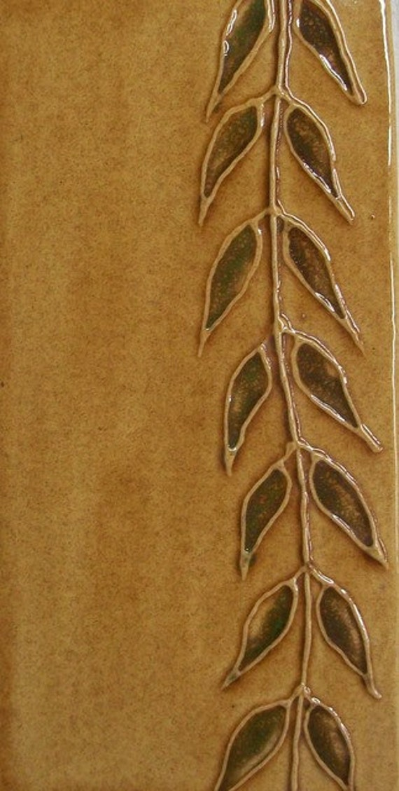 Handpainted Willow Tiles -- Handmade Ceramic Architectural Tile -- MADE TO ORDER