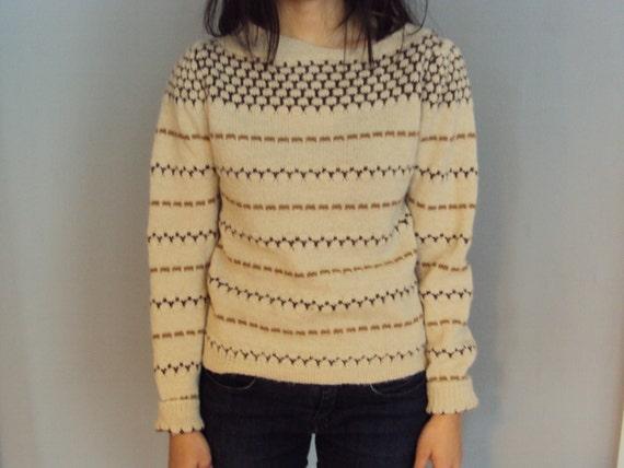 Soft thin fair isle sweater