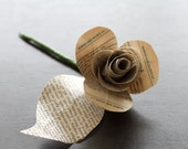 Paper Flowers- Paper Roses- Made from Vintage Shakespeare