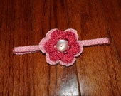 Crochet Pattern PDF - Headband / Bracelet - Braid and Flower Headband - Newborn to Adult Sizes - Various Flower Designs Included