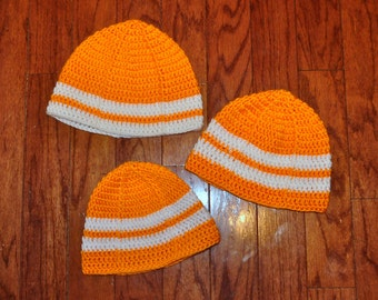Crochet Pattern PDF - Beanie / Hat - Ribs and Stripes Fan Beanie - Newborn to Adult Sizes