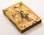 Book Wall Clock -Vintage Figures-