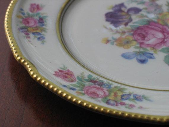 RESERVED ~ Castleton Rose Salad Plate by Castleton USA