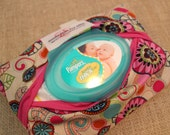 """RESERVED for Natasha: Wet Wipes Cover """"Flower Spots"""" Shipping 6-10days"""