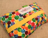 """Wet Wipes Cover """"Hungry Caterpillar Dots"""""""