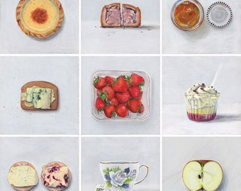 British food collection. One giclée print.