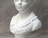 Vintage White Ceramic Bust