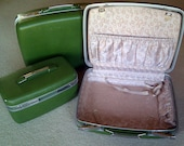 Set of 3 Vintage Towncraft Hardcase Suitcases