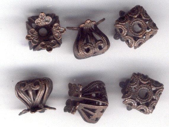 Rusty Black Cube Drawn Beads, Filigree, B'sue Boutiques, Designer Findings, Item08320