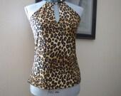 SALE: Leopard Print Snap Top