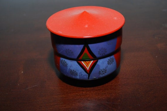 Vintage Japanese  hand painted travel tea cup- Etsy Treasury item