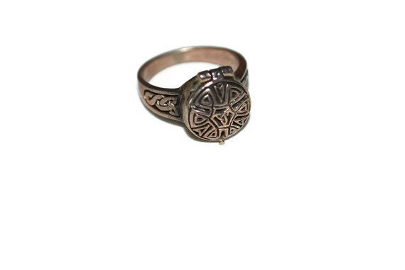 Celtic Poison Ring Sterling Silver Vintage-Etsy treasury