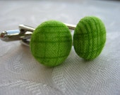 Fresh Cut Green Grass Cufflinks