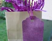 Gift tag /hang tag /price tag /purple   tye Dye /28 count