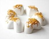 6 Bath Bombs - Miniature Hearts - Blood Orange- Calendula