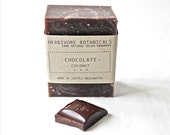 Natural Real Dark Chocolate Soap. Coconut. Vegan. Handmade. 100% Natural Soap.