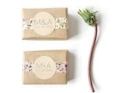 25 Custom Soap Wedding Favors. 100% Natural Vegan Handmade Soap.
