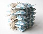 25 Custom Baby Boy Shower Favors - Blue Chevron - Soap Favors