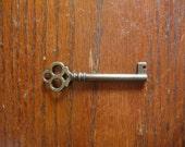 Owl Eyes Heavy brass skeleton key