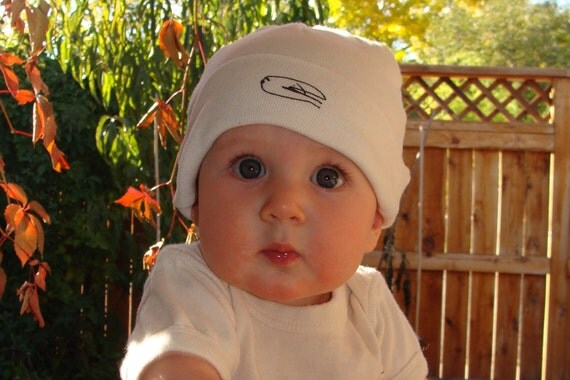 Organic Baby Hat - BIRDS - OS - Natural