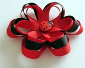 Hair Clip - Ladybug Flower