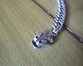 "15"" Silver Necklace with embelished clasp"